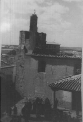 Fachada de la iglesia después del incendio hace 60 años